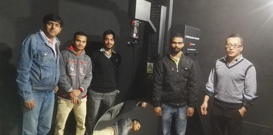 Group photo in front of LISUN LSG-3000S Moving Detector Goniophotometer