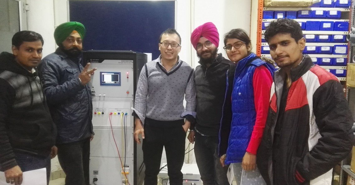 India - Training of surge generator and LPCE-3 spectroradiometer integrating sphere system