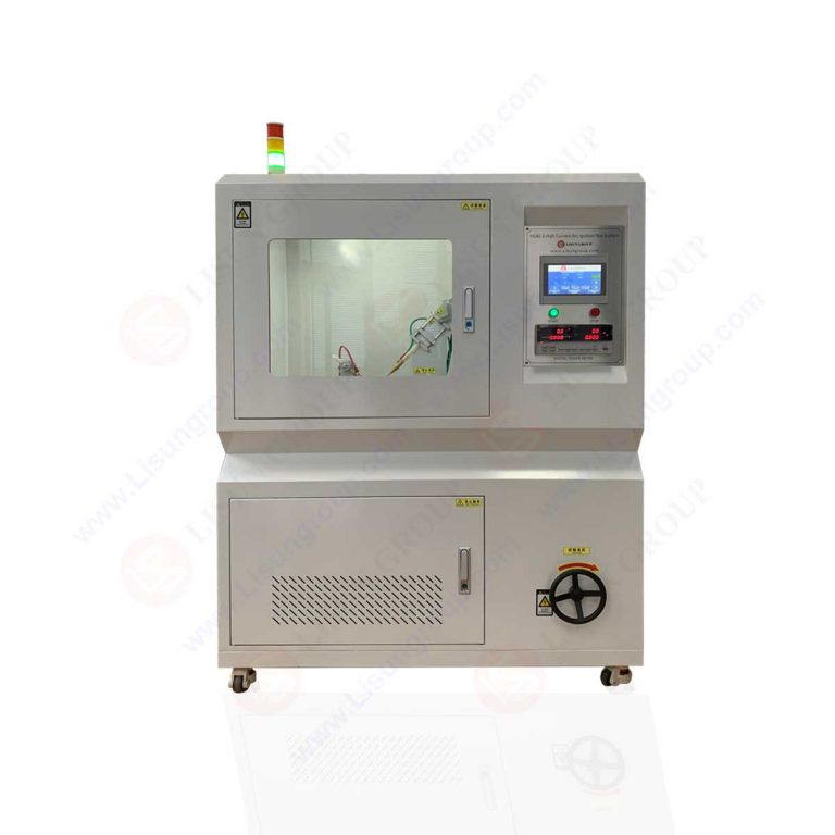 Sistema de prueba de encendido por arco de alta corriente