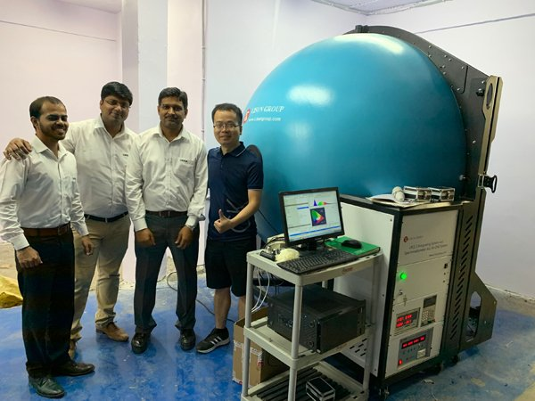 Client Ordered LPCE 3 Spectroradiometer Integrating Sphere System At The LED Expo New Delhi