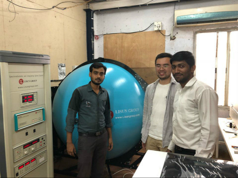India-LISUN engineer visit India to do installation and training for LPCE-2 High Precision Spectroradiometer Integrating Sphere System